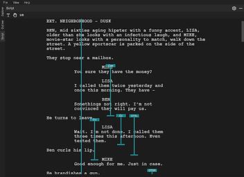Script lining software