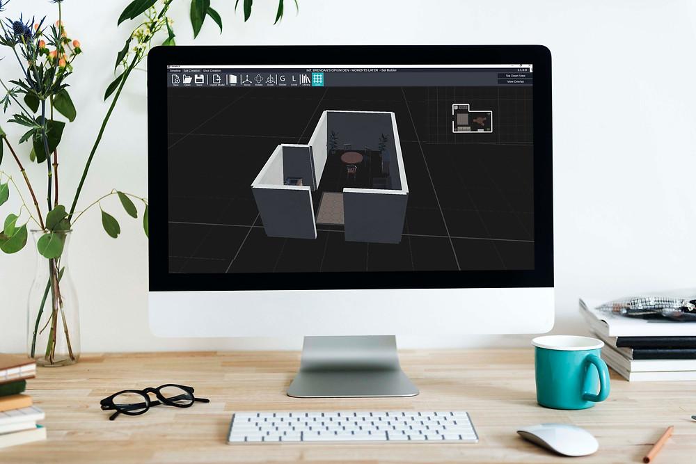 Computer Screen running Filmatick Software