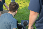 Camera Crew on set for the Film Help Me First