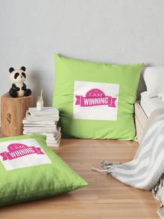 Winning In Pink - Throw Pillow