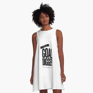 Goal Digger - A Line Dress
