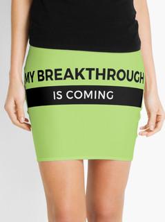 Green means Go! mini skirt
