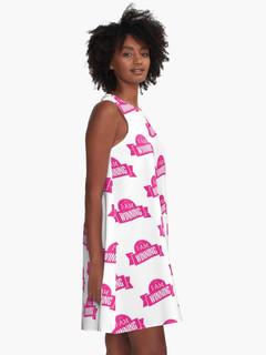 Winning in Pink - A Line Dress