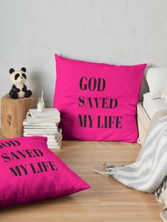 God Saved My Life - Throw Pillow