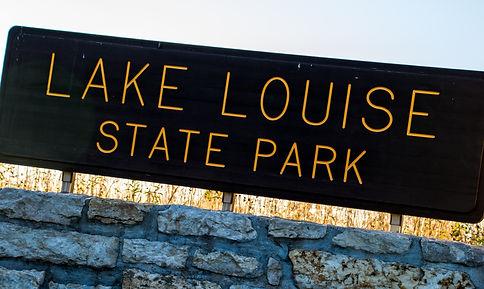 Lake Louise State Park Sign