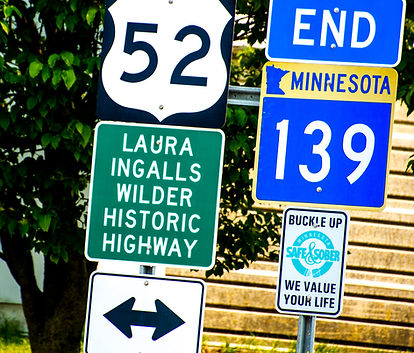 Laura Ingalls Wilder Historic Highway Sign