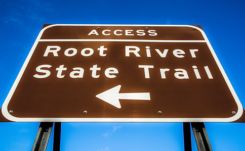 Root River State Trail Access Sign