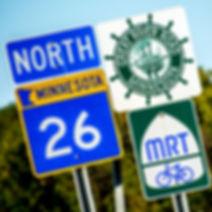 Mississippi River Trail Road Sign