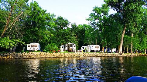 Pettibone Resort from the Mississippi River