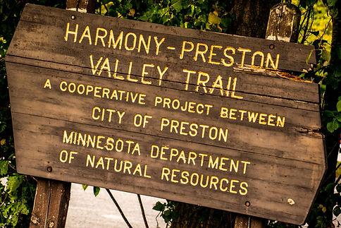 Harmony-Preston Valley State Trail Sign