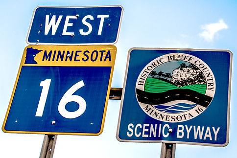 Historic Bluff Country National Scenic Byway Sign