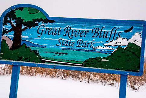 Great River Bluffs State Park Sign