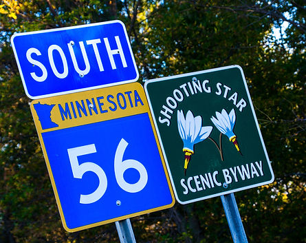 Shooting Star Scenic Byway Sign