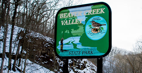 Beaver Creek Valley State Park Sign