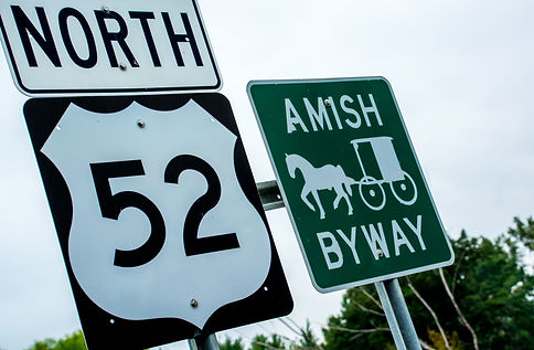 Amish Buggy Byway Sign