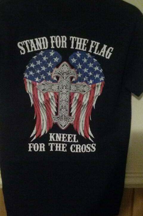 Stand for the Flag, Kneel for the Cross Short Sleeve T-Shirt