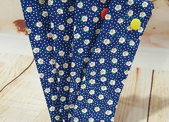 """6"""" DPN Holder - Navy with flowers"""