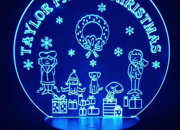 Family Christmas Light Up Ornament