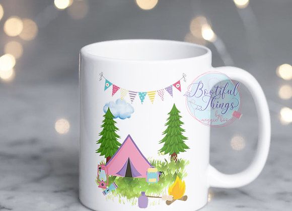 Camping Mug - Pink Tent
