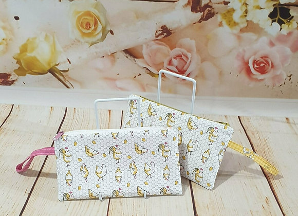 Wristlet Purse - Chickens