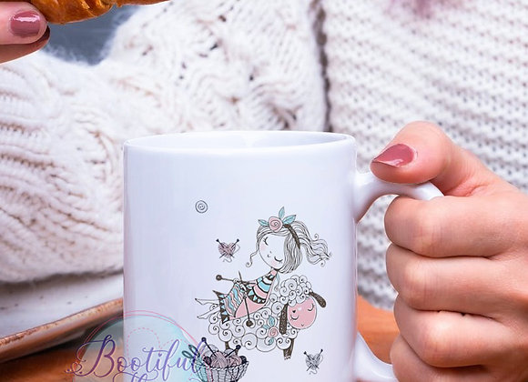 Knitting  - Laughed and Laughed Mug