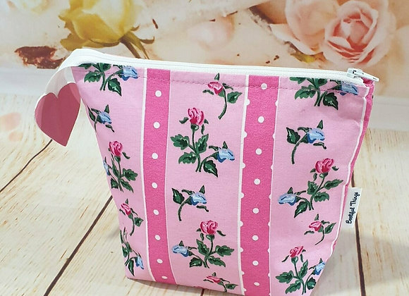 Pink & Blue Floral Stripe