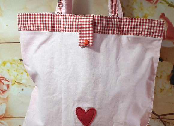 Foldaway Tote With Heart Detail