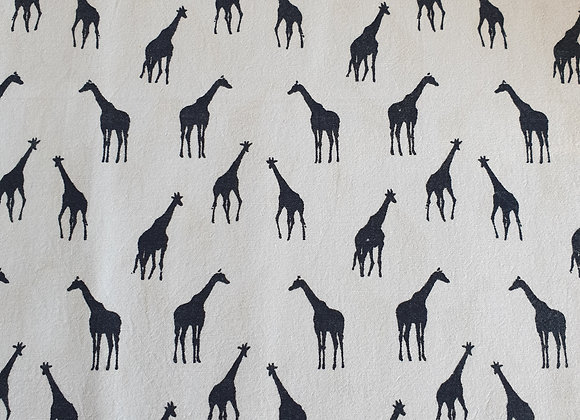 Giraffes on Pale Blue