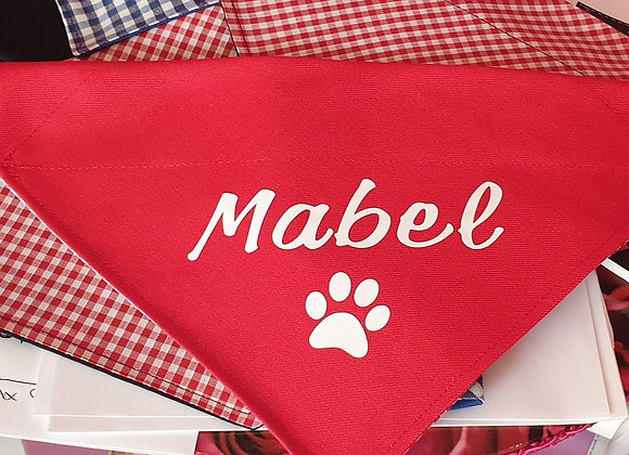Doggy Bandana - With TEXT
