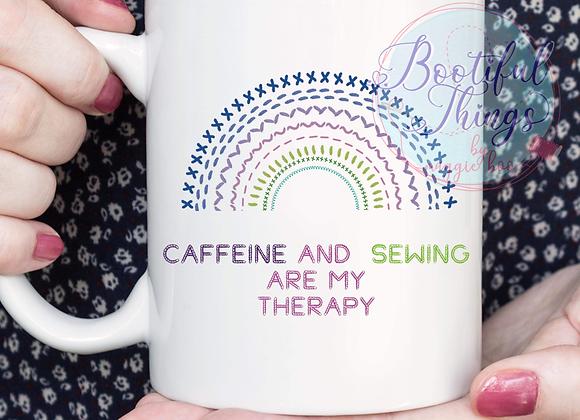 Caffeine and Sewing Mug