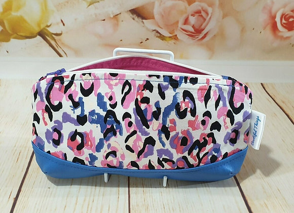 Pink Blue & Leopard Print