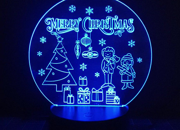 Couples Christmas Light Up Ornament
