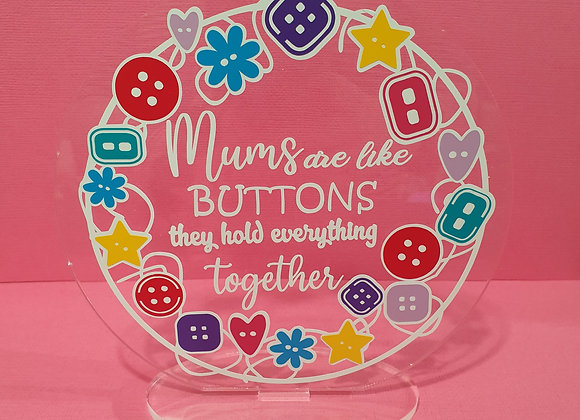 Mum's Are Like Buttons Ornament