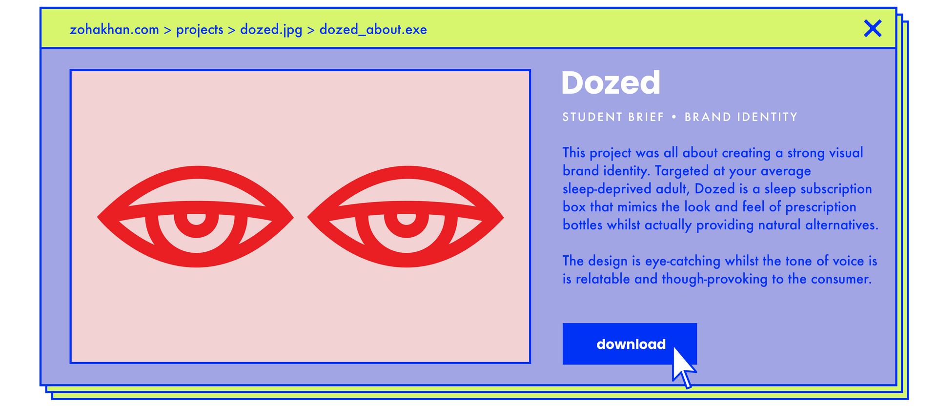 PROJECTS ABOUT dozed.png