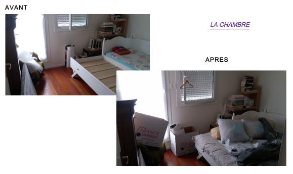 """Chambre """"AVANT"""" et """"APRÈS"""""""