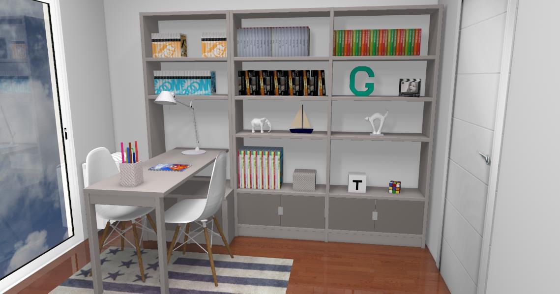 Ensemble bureau/bibliothèque