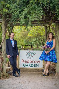 Rosebush Archway Redbrow Wedding