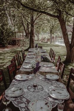Table Setting Redbrow Wedding