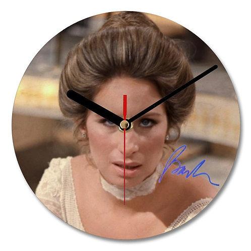 Barbra Streisand Autographed Wall Clock