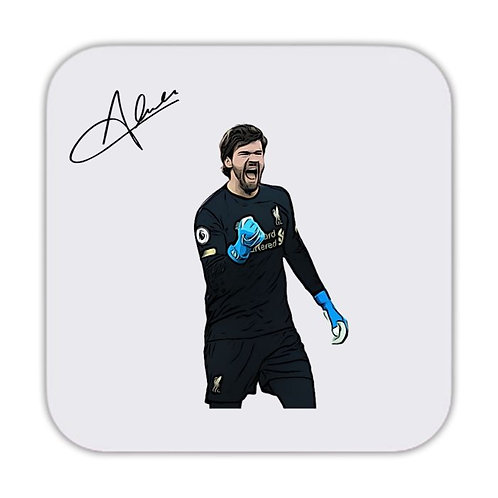 Alisson Becker Liverpool Drinks Coaster 9 x 9cm
