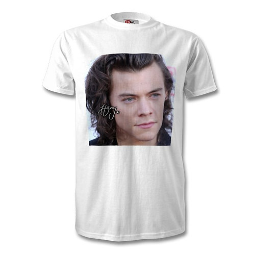 Harry Styles One Direction Autographed Mens Fashion T-Shirt