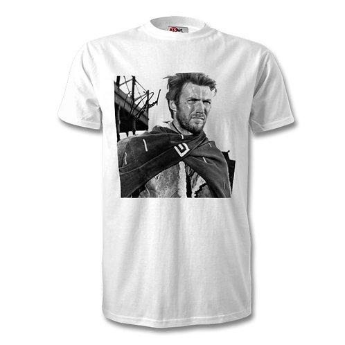 Clint Eastwood Autographed Mens Fashion T-Shirt