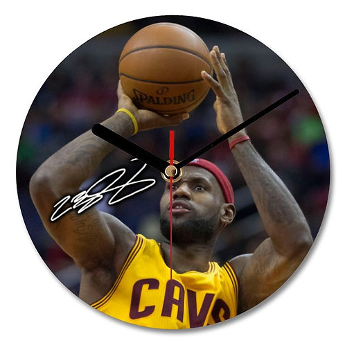 LeBron James - Cleveland Cavaliers - NBA Autographed Wall Clock