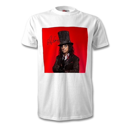 Alice Cooper Autographed Mens Fashion T-Shirt