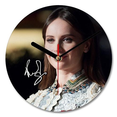 Felicity Jones - Star Wars Autographed Wall Clock