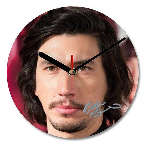 Adam Driver - Kylo Ren - Star Wars Autographed Wall Clock