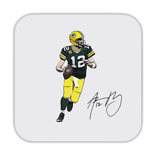 Aaron Rodgers Green Bay Packers Drinks Coaster 9 x 9cm