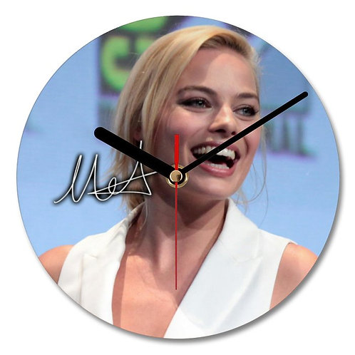 Margot Robbie Autographed Wall Clock