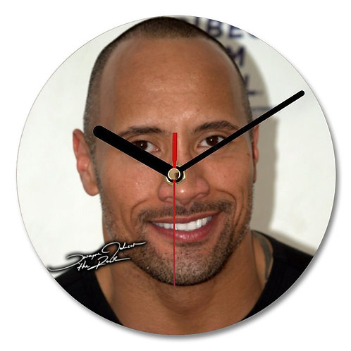 Dwayne Johnson - The Rock Autographed Wall Clock