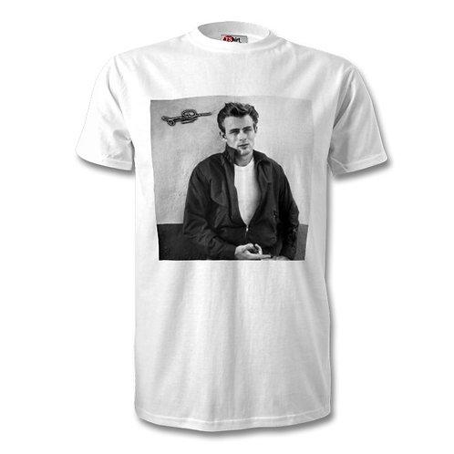 James Dean Autographed Mens Fashion T-Shirt